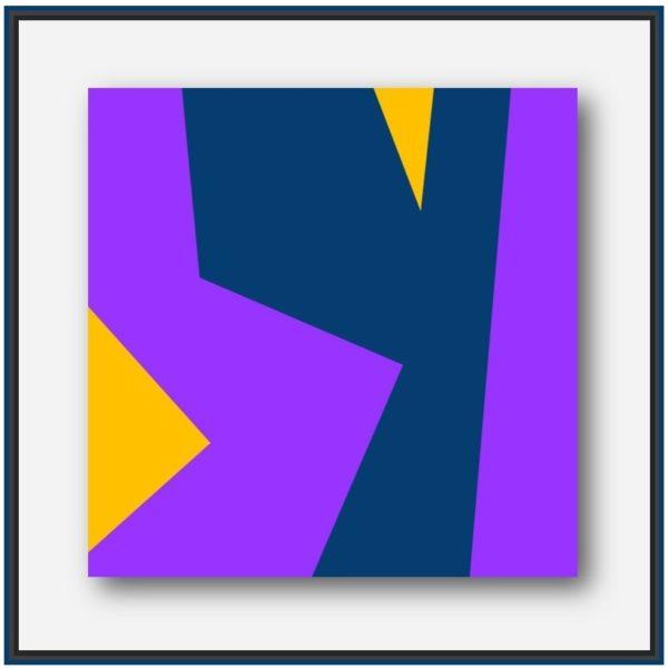Peinture moderne forme géométrique de l'artiste français (Le Mans) Pierre-Marie Dutel