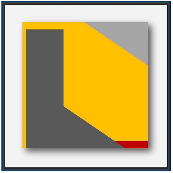 Peinture abstraite géométrique digitale en hommage aux victimes de KOBE japon 1995