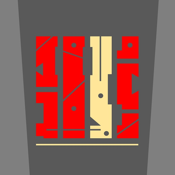 MECANIQUE Format 15x15 Abstraction géométrique