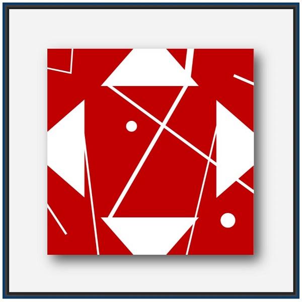 Figure abstraite géométrique de l'artiste Pierre-Marie Dutel