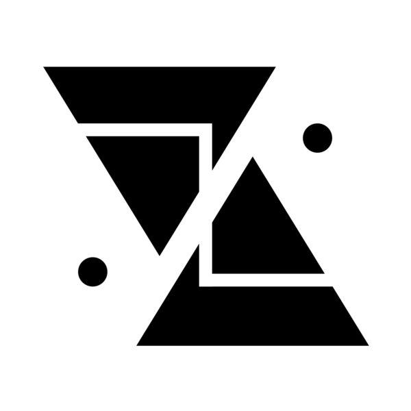 Art contemporain. Abstraction géométrique noir et blanc