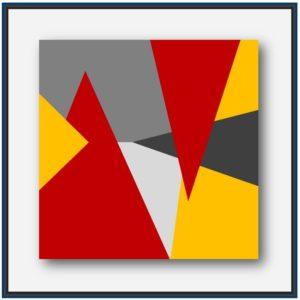 Art contemporain numérique. Art géométrique.