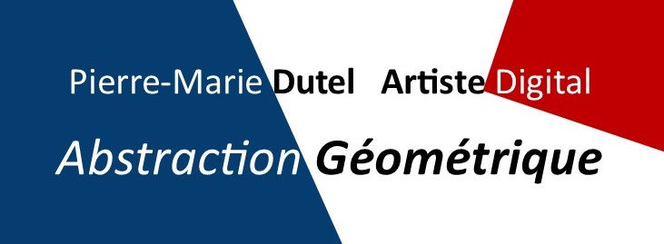 Tableau d'art abstrait géométrique