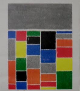Art géométrique Pastel gras Pierre-Marie Dutel