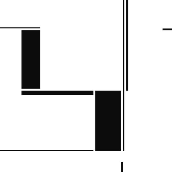 Tableau géométrique de l'artiste peintre Pierre-Marie Dutel