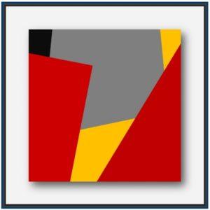 Tableau abstrait contemporain géométrique