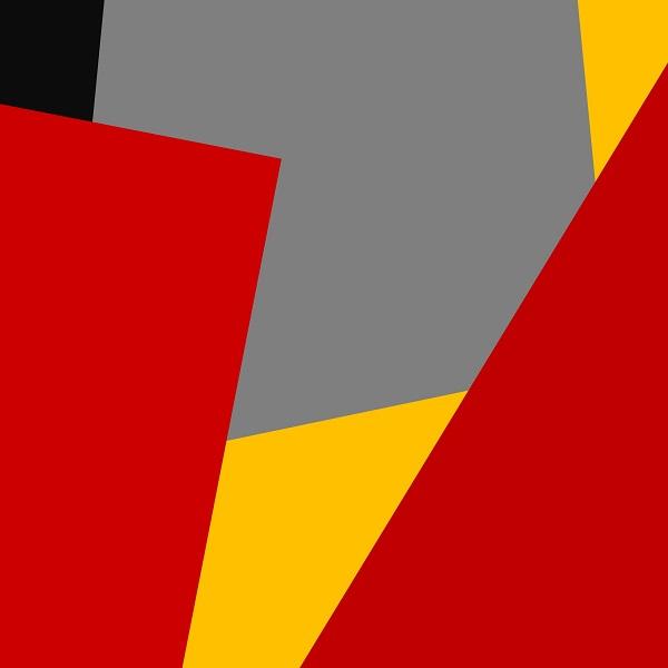 tableau abstrait géométrique oeuvre de l'artiste Pierre-Marie DUtel