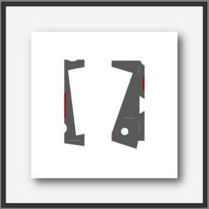 Art contemporain. Tableau abstrait thème mécanique, oeuvre de l'artiste peintre français Pierre-Marie Dutel