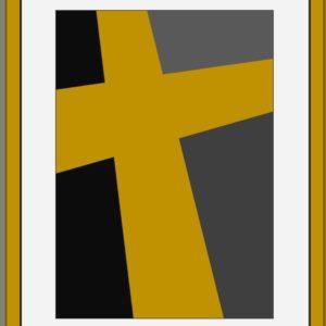 art religieux. Art contemporain, abstraction géométrique de l'artiste français Pierre-Marie Dutel