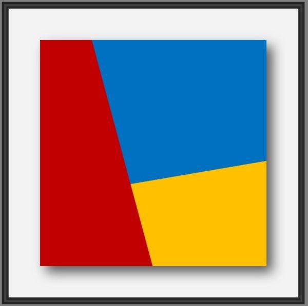 Tableau contemporain abstrait du peintre français Pierre-Marie Dutel