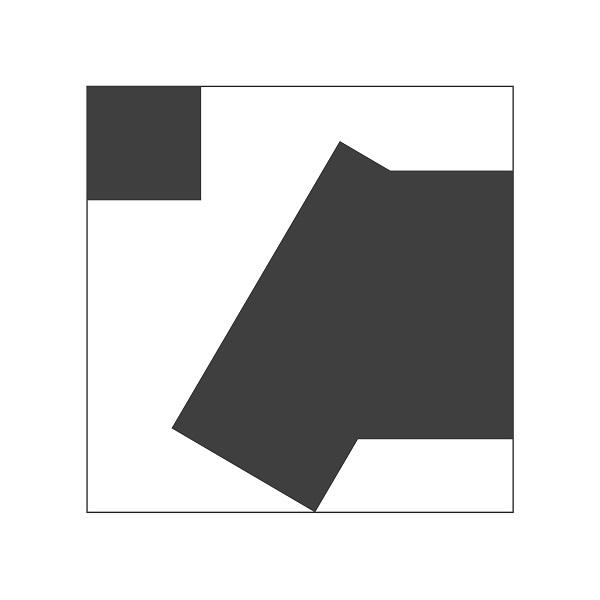 Abstraction geometrique noir et blanc