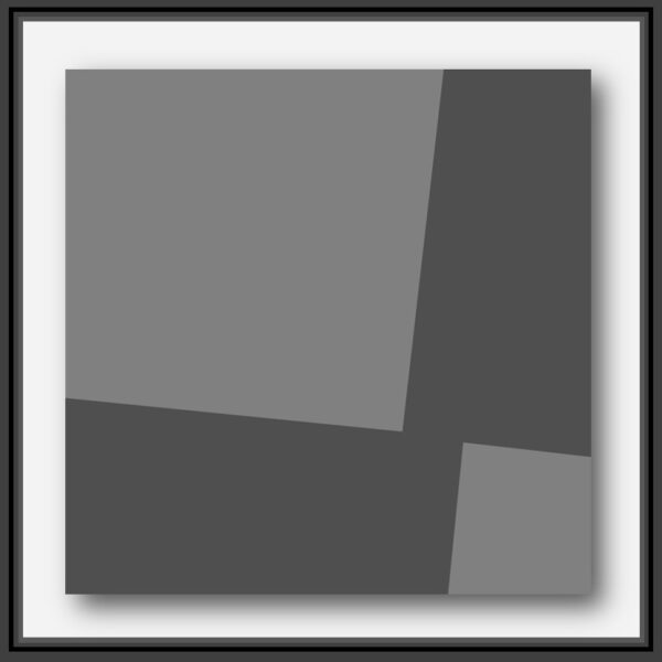 oeuvre forme géometrique du peintre Pierre-Marie Dutel. Architecture homo sapiens