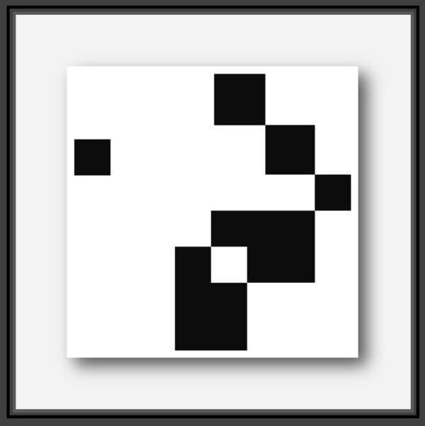 Architecture Hosap est une oeuvre de l'artiste français Pierre Marie Dutel connu pour ses abstractions géométriques