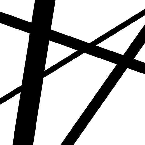 Ombre est une peinture numérique abstraite géométrique de l'artiste français Pierre-Marie Dutel
