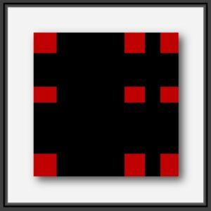 Tableau contemporain forme géométrique Rouge et Noir